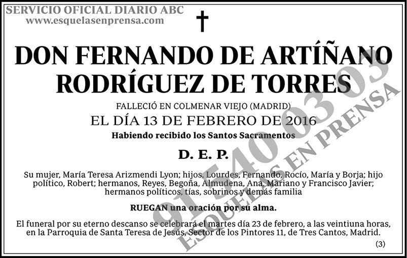 Fernando de Artíñano Rodríguez de Torres